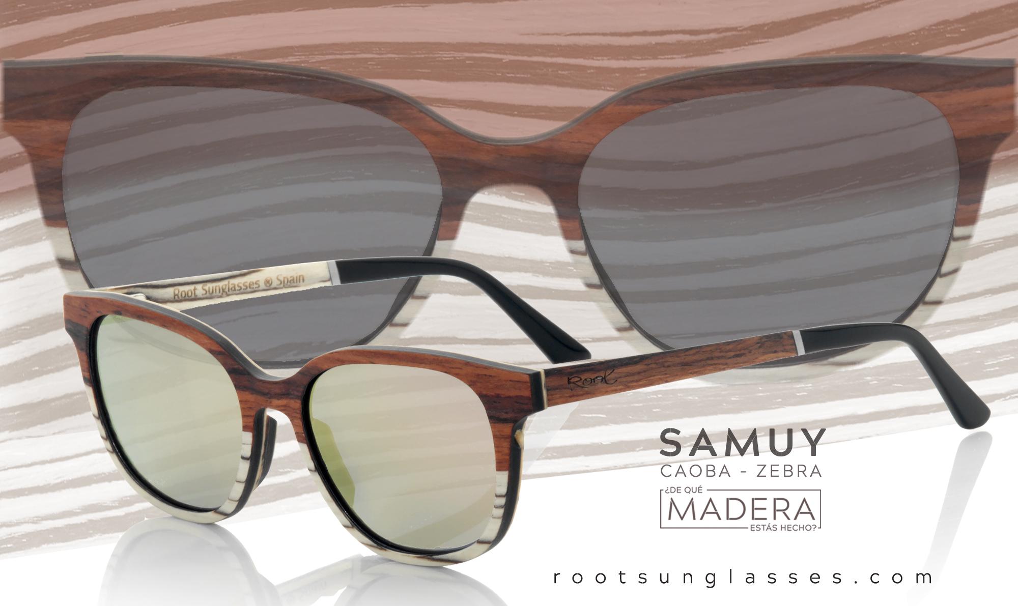Gafas de sol de madera laminada Graduables samuy