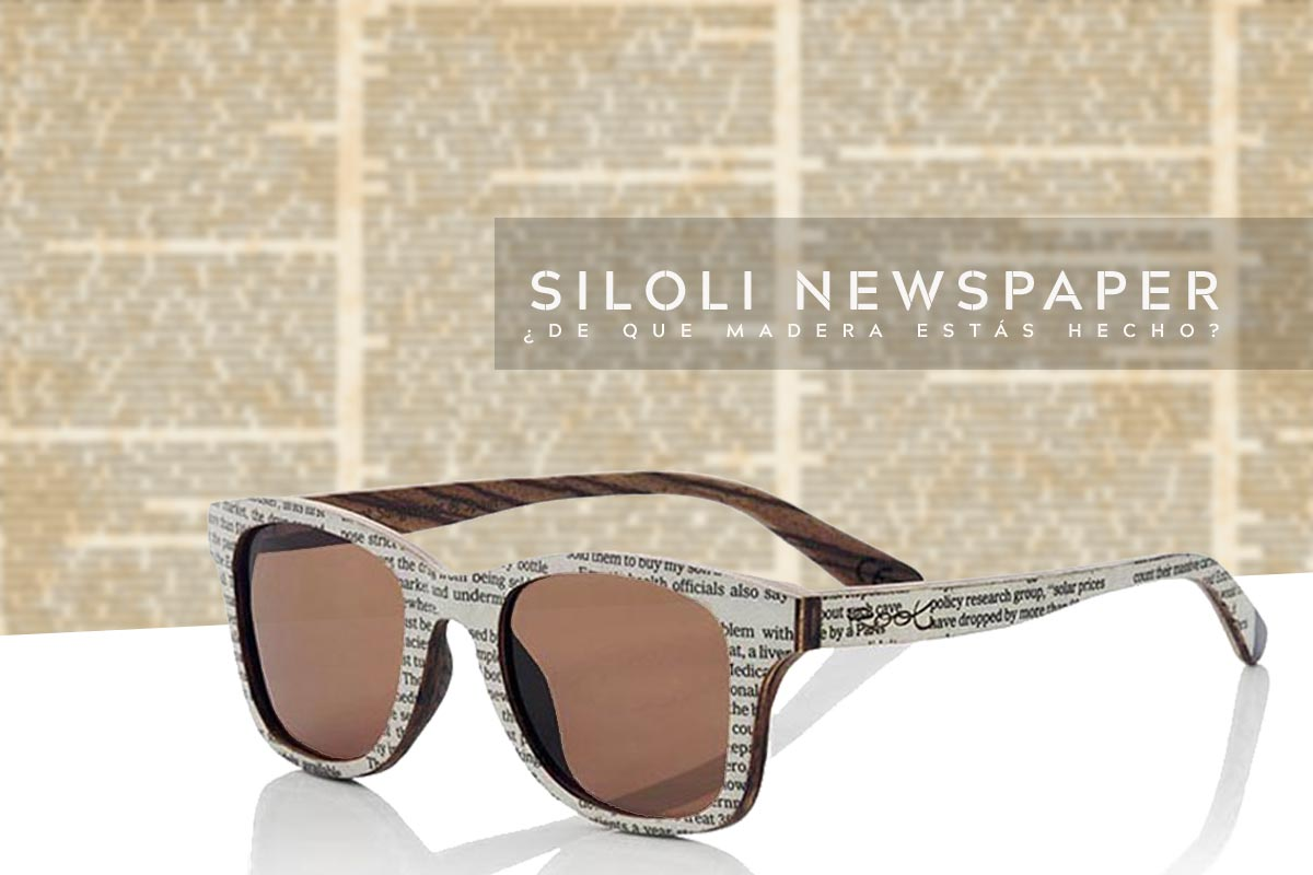 madera y newspaper gafas de sol