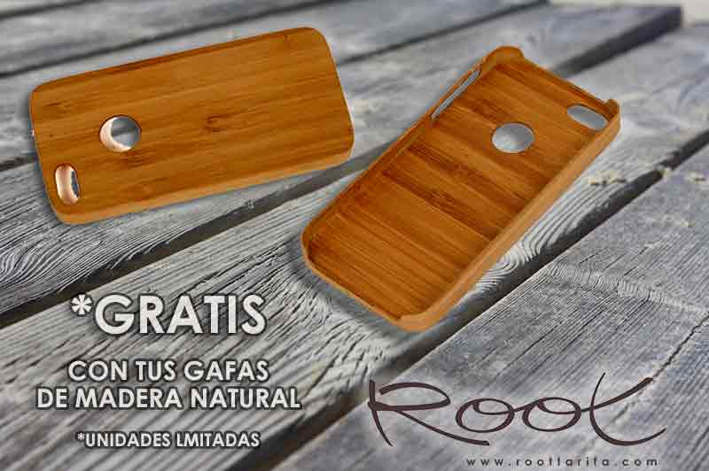 Funda de Bambú Iphone GRATIS Root Wooden Sunglasses