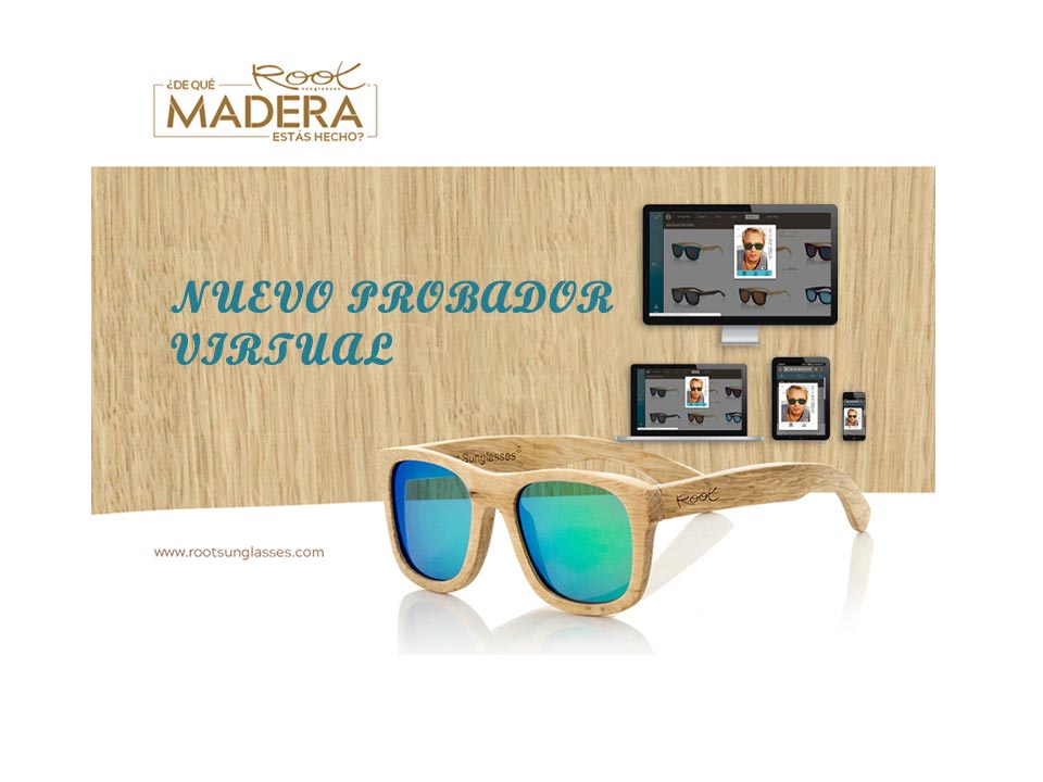 New Virtual Fitting Room of Wooden Sunglasses. Root Wooden Sunglasses