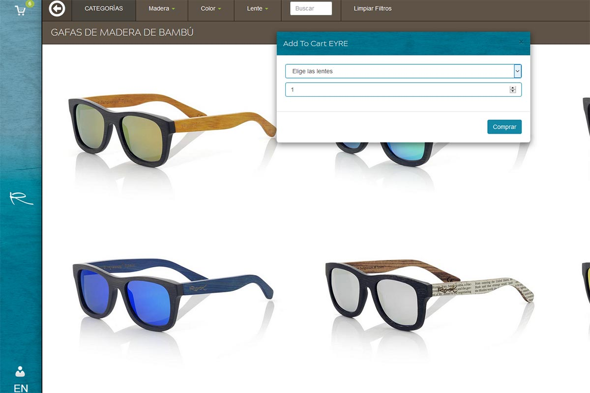 New quick way to complete your wholesale orders. Root Wooden Sunglasses