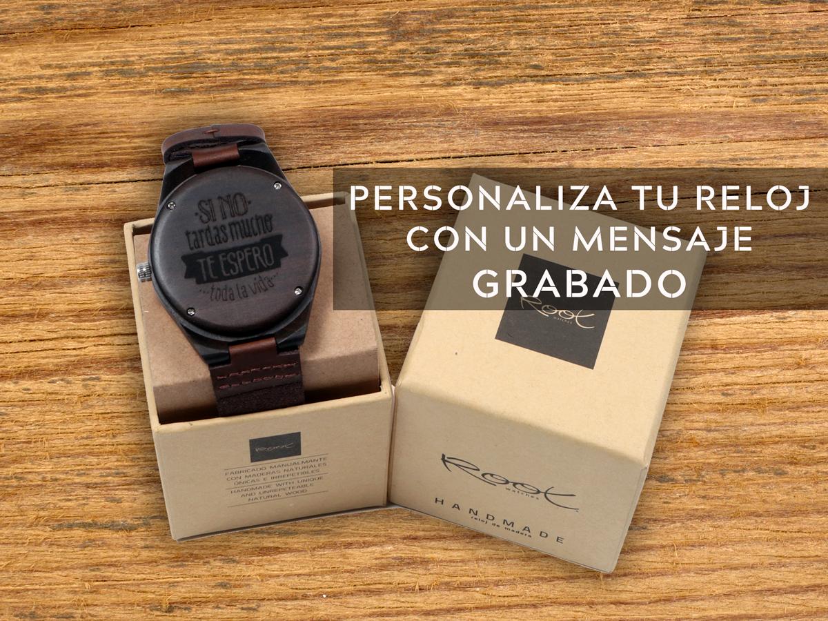 Tu Reloj Personalizado con un Mensaje Root Wooden Sunglasses