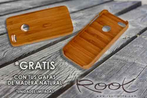 Root Wooden Sunglasses Funda de Bambú Iphone GRATIS