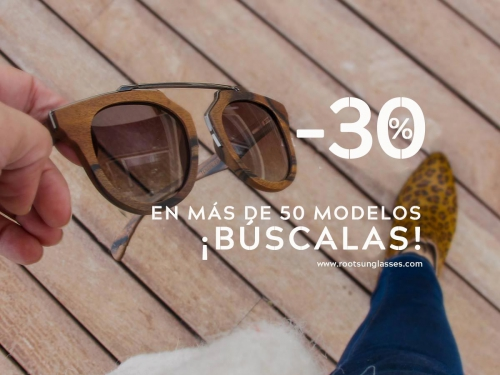 Natural Wood Sunglasses ¡Get a-30% discount!. Root Wooden Sunglasses