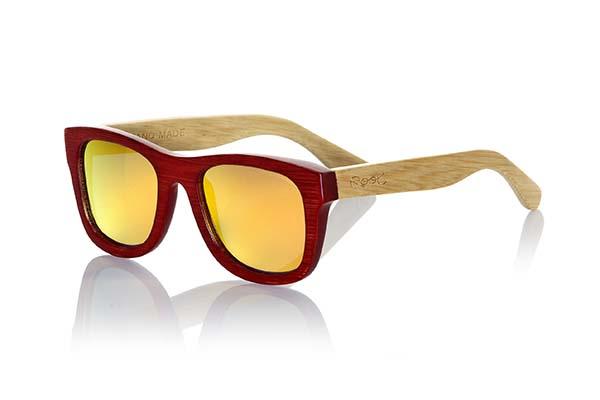 gafas de sol de madera natural Root Volcano