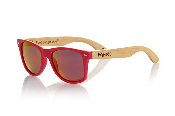 Wooden Sunglasses Root CANDY RED
