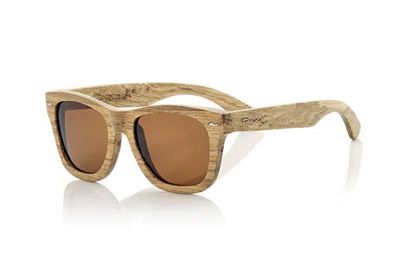gafas de sol de madera natural Root Terracota