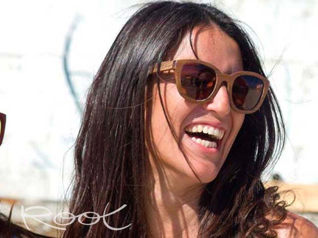 Gafas de Madera Natural de Ébano AUDREY   Root Sunglasses ®