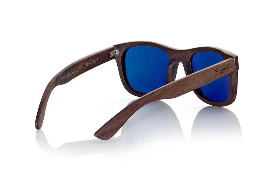 Wood eyewear of Black Walnut WOOD SUNSET S | Root Sunglasses®