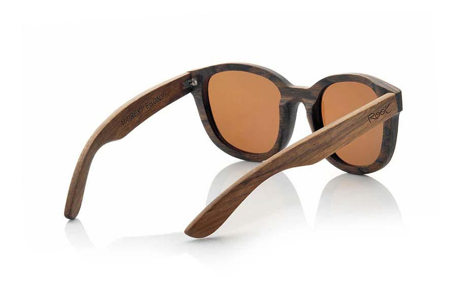 Wood eyewear of Ebony AUDREY | Root Sunglasses®