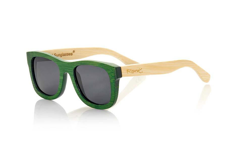 Wood eyewear of Bamboo modelo AMAZONIAN ...nians are a green bet that keeps your eyes clean. Frontal Measurement: 147x50mm | Root Sunglasses®
