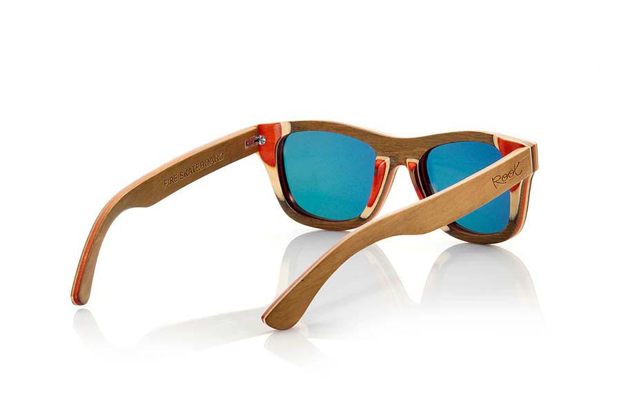 Wood eyewear of Skateboard FIRE | Root Sunglasses ®