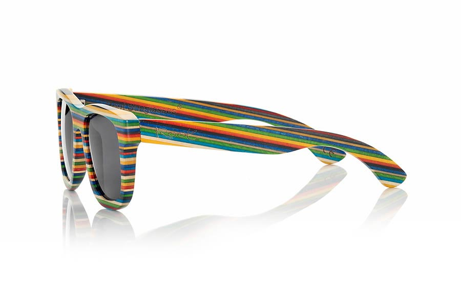 Wood eyewear of Skateboard RAINBOW | Root Sunglasses®
