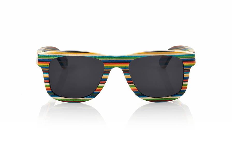 Wood eyewear of Skateboard RAINBOW | Root Sunglasses®