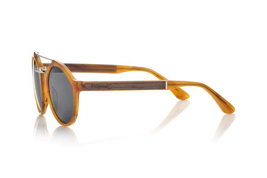 Wood eyewear of Black Walnut TAMBORA.   |  Root Sunglasses®