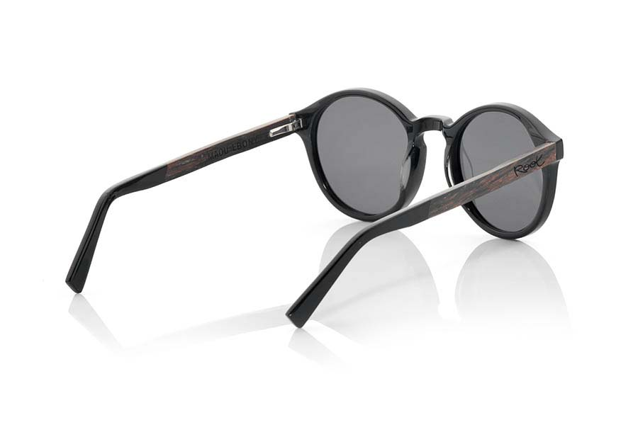 Wood eyewear of Ebony MAOU.   |  Root Sunglasses®
