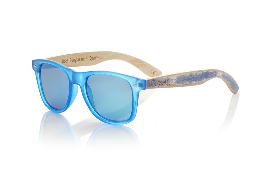 Gafas de Madera Natural de Bambú SKA BLUE | Root Sunglasses®