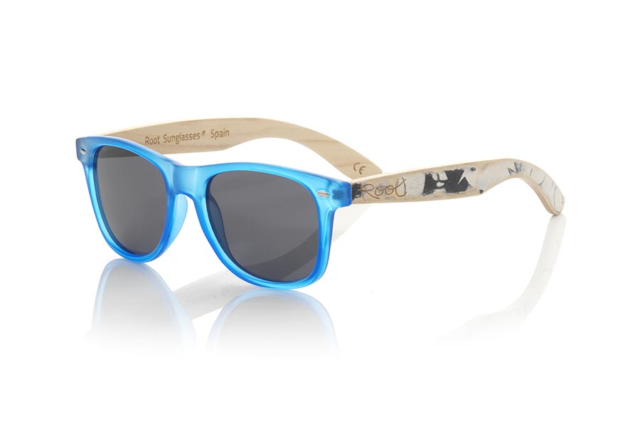 Wood eyewear of Bambú modelo SKA BLUE ...y not exactly match the displayed images what makes each of the goggles unique. | Root Sunglasses®