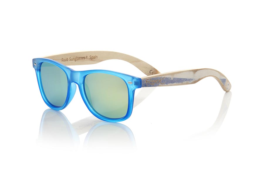 Wood eyewear of Bambú SKA BLUE | Root Sunglasses®
