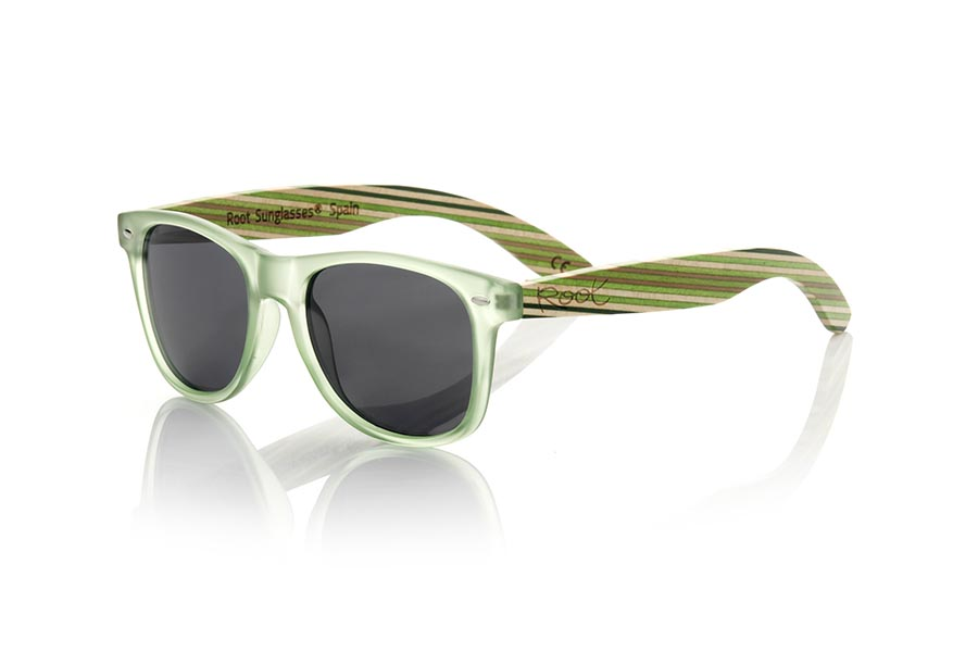 Wood eyewear of Bambú modelo SKA GREEN | Root Sunglasses®