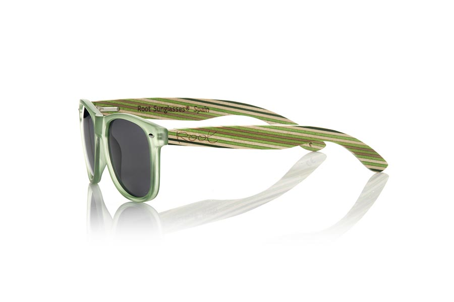 Wood eyewear of Bambú SKA GREEN | Root Sunglasses®