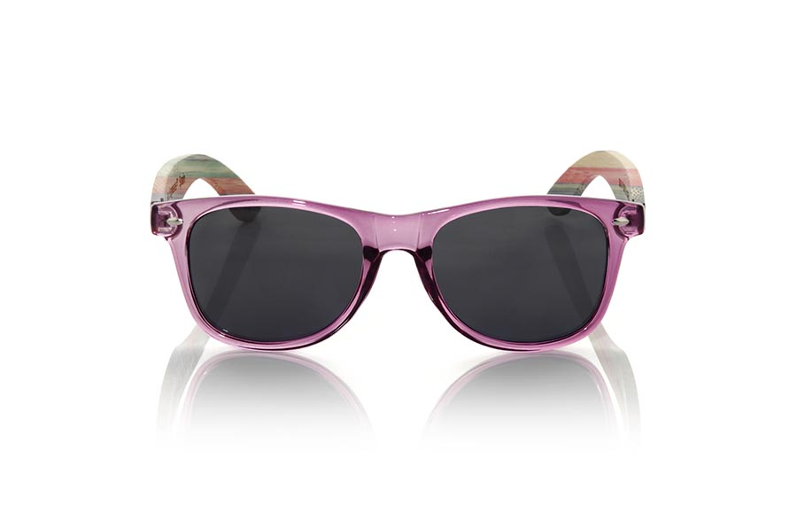 Gafas de Madera Natural de Bambú modelo SKA PURPLE | Root Sunglasses®