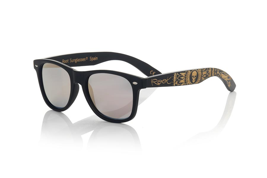 Gafas de Madera Natural de Bambú SKULL BLACK.   |  Root Sunglasses®