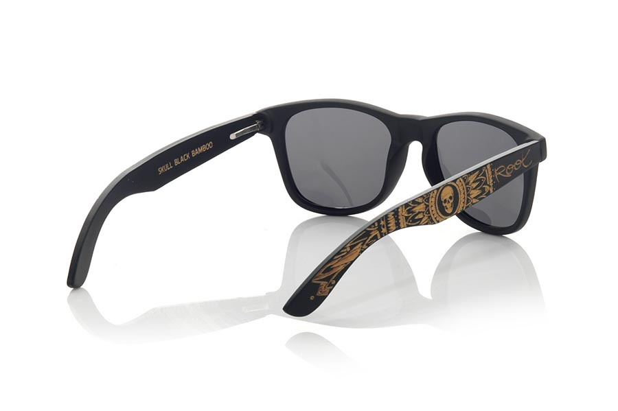 Gafas de Madera Natural de Bambú SKULL BLACK | Root Sunglasses®