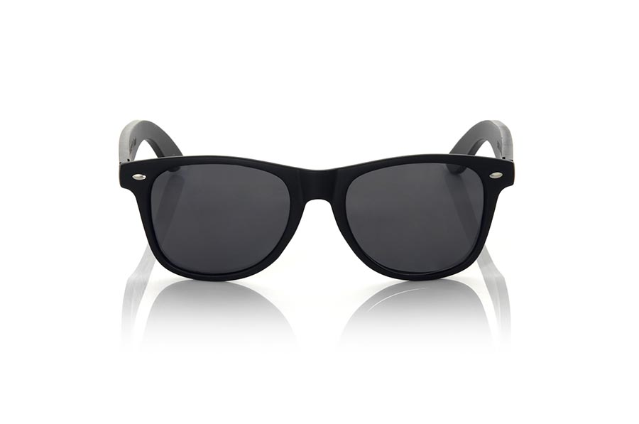Wood eyewear of Bambú modelo SKULL BLACK | Root Sunglasses®
