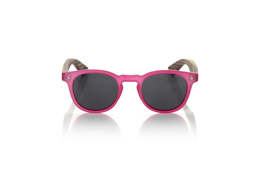Wood eyewear of Zebrano modelo KID R PINK | Root Sunglasses®