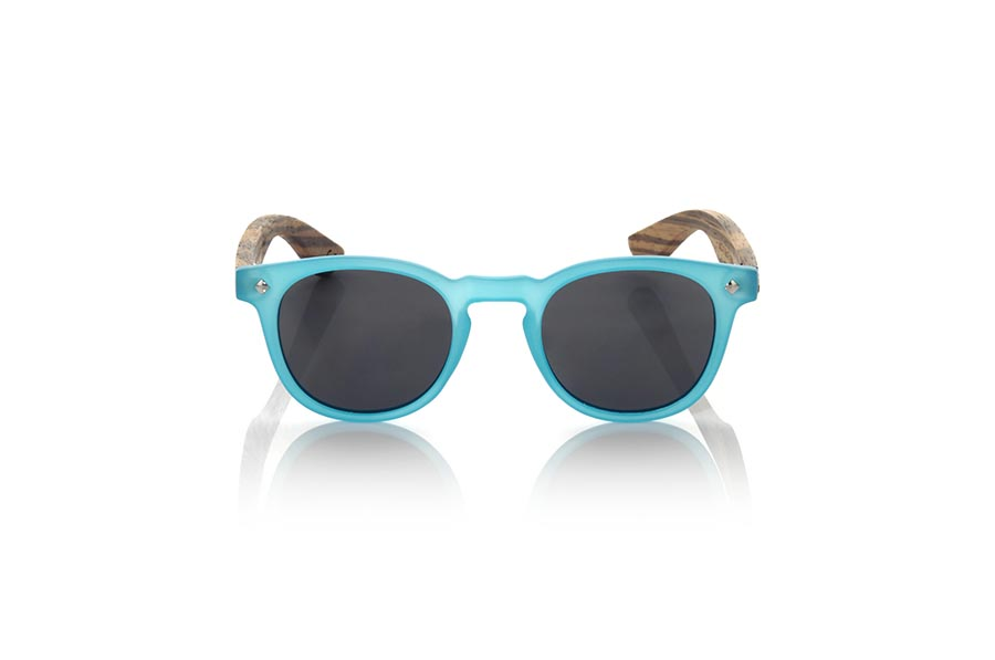 Wood eyewear of Zebrano modelo KID R BLUE | Root Sunglasses®