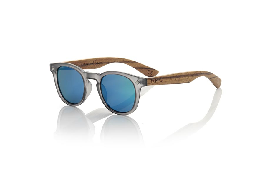 Wood eyewear of Zebrano KID R  BLACK | Root Sunglasses®