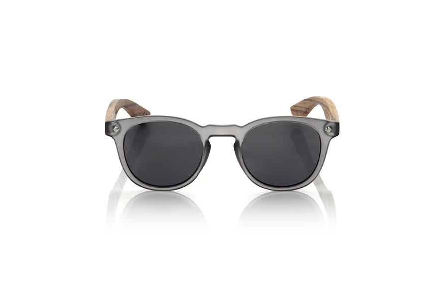 Gafas de Madera Natural de Zebrano modelo KID R  BLACK | Root Sunglasses®