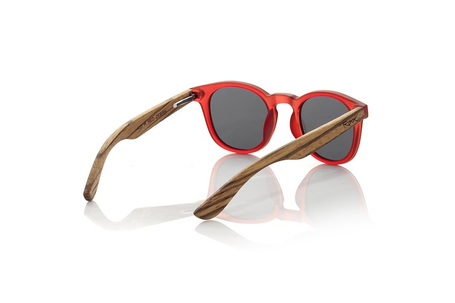 Wood eyewear of Zebrano KID R RED | Root Sunglasses®
