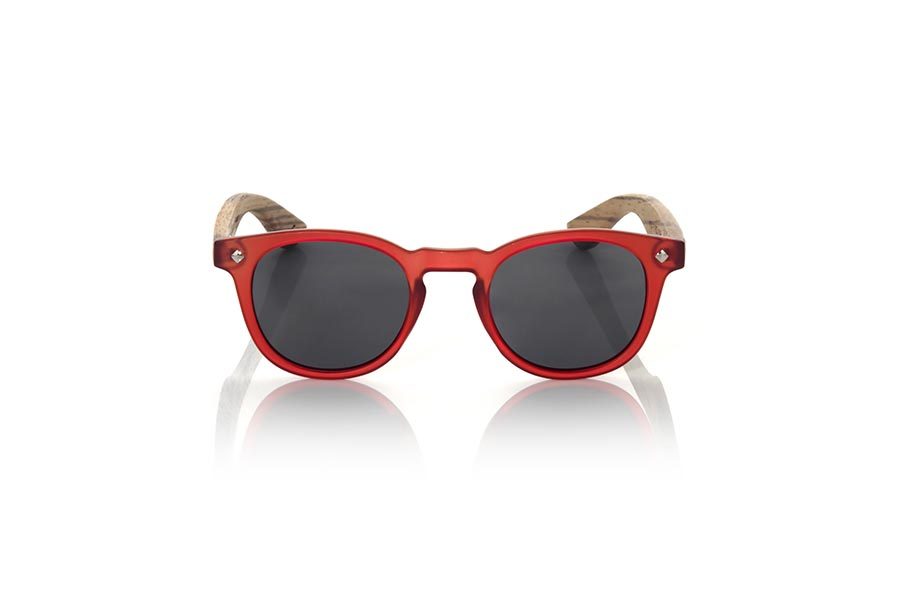 Wood eyewear of Zebrano modelo KID R RED | Root Sunglasses®