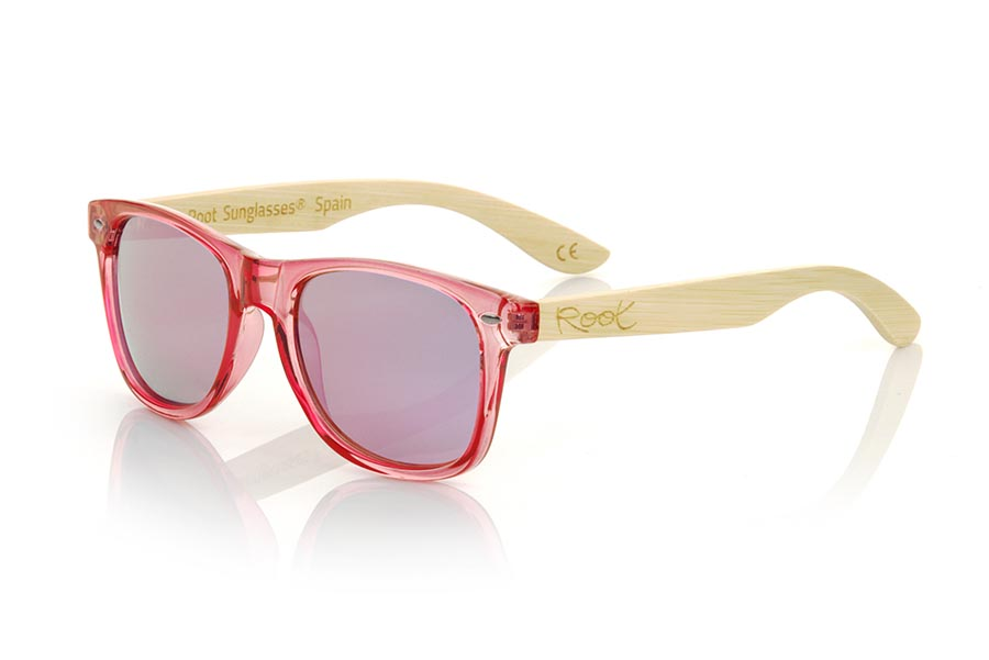 Wood eyewear of Bambú modelo CANDY PINK DS | Root Sunglasses®