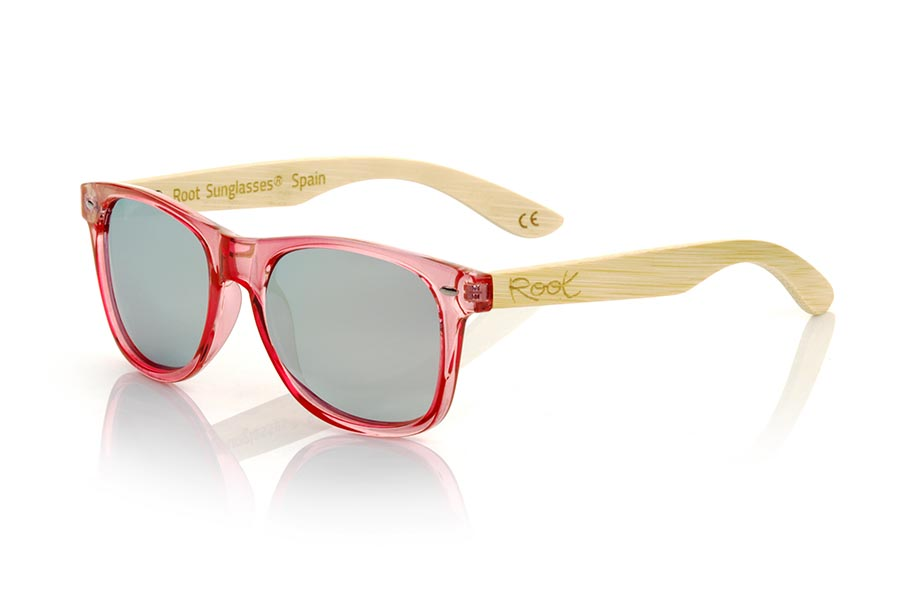 Gafas de Madera Natural de Bambú modelo CANDY PINK DS | Root Sunglasses®
