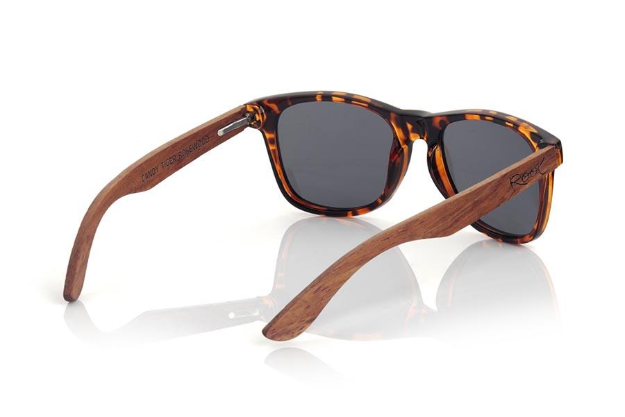 Gafas de Madera Natural de rosewood CANDY TIGER DS.   |  Root Sunglasses®