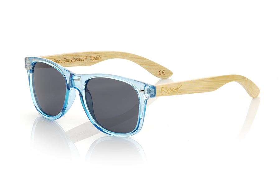 Gafas de Madera Natural de Bambú modelo CANDY BLUE DS | Root Sunglasses®