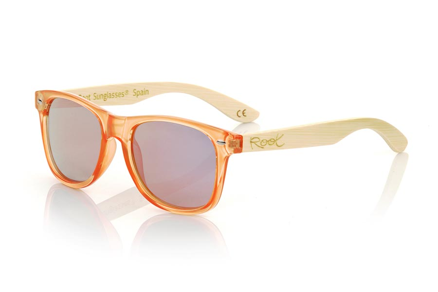 Wood eyewear of Bambú CANDY ORANGE DS.   |  Root Sunglasses®