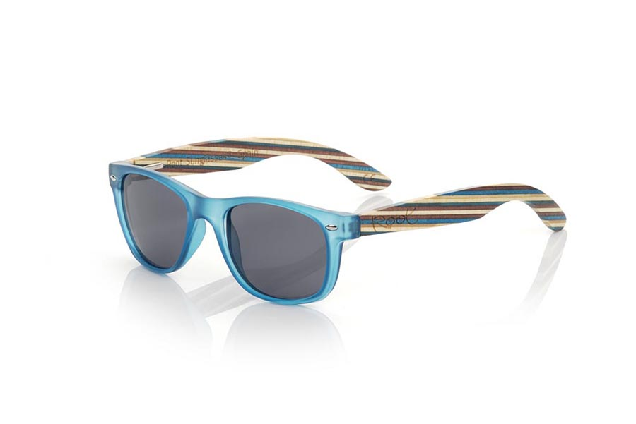 Gafas de Madera Natural de arce modelo KID W BLUE | Root Sunglasses®