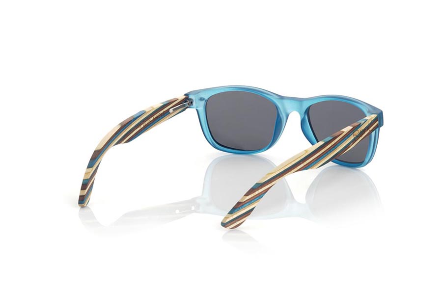 Gafas de Madera Natural de arce KID W BLUE.   |  Root Sunglasses®