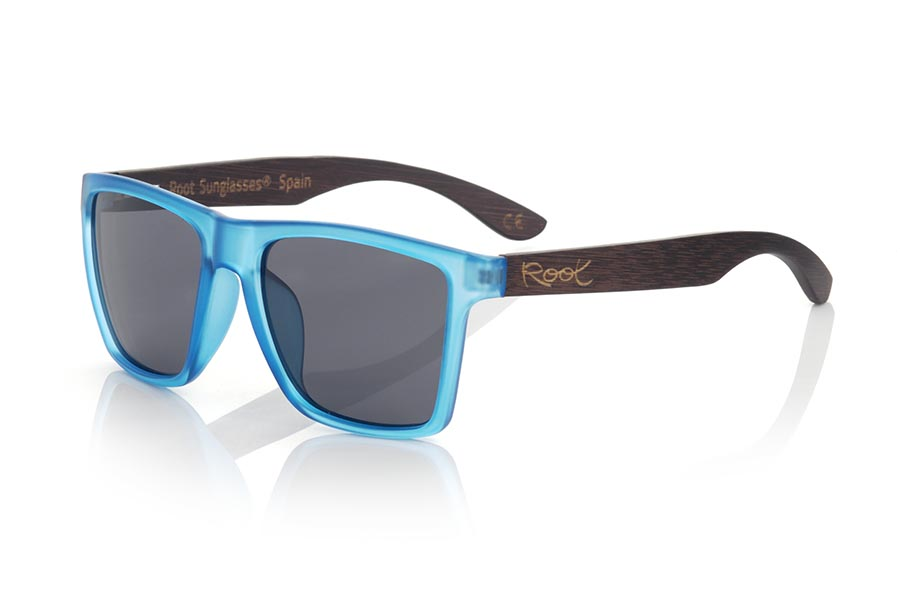Gafas de Madera Natural de Bambú modelo RUN BLUE DS | Root Sunglasses®