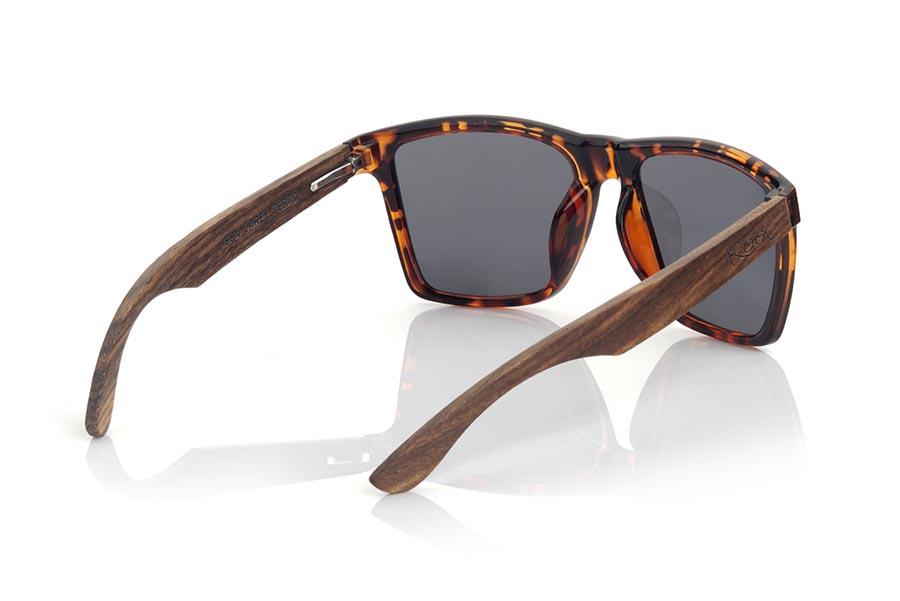 Wood eyewear of zebra RUN CAREY DS.   |  Root Sunglasses®