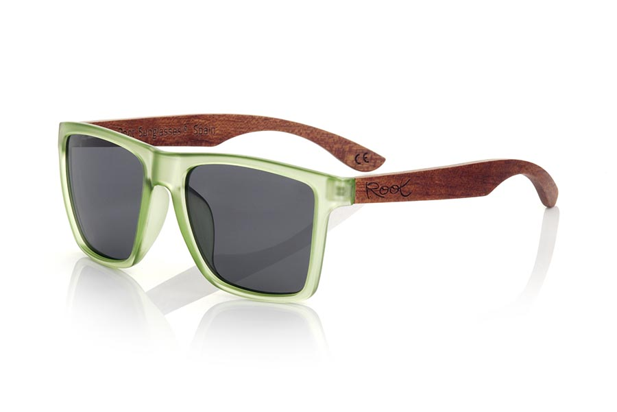Wood eyewear of rosewood modelo RUN GREEN DS | Root Sunglasses®