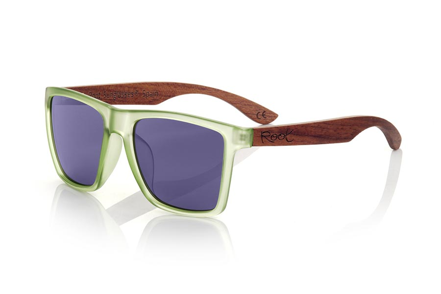 Gafas de Madera Natural de rosewood RUN GREEN DS.   |  Root Sunglasses®