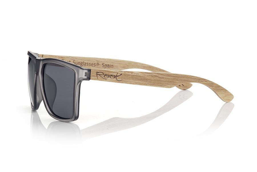 Gafas de Madera Natural de zebra RUN GREY DS.   |  Root Sunglasses®