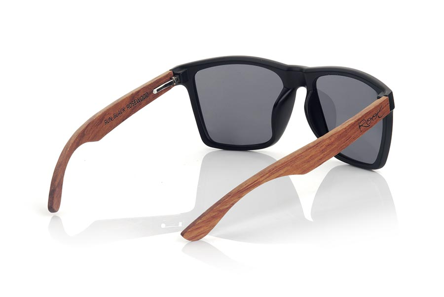 Wood eyewear of rosewood RUN BLACK DS.   |  Root Sunglasses®