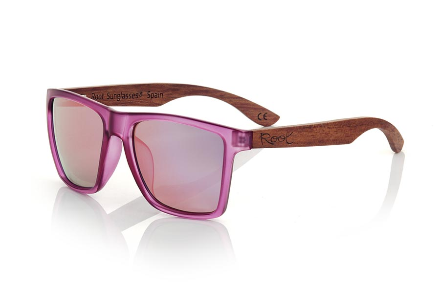 Gafas de Madera Natural de rosewood modelo RUN PURPLE DS | Root Sunglasses®
