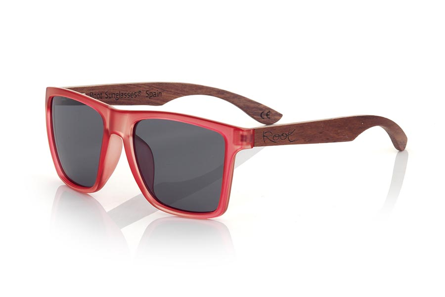 Gafas de Madera Natural de rosewood RUN RED DS.   |  Root Sunglasses®